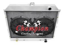 "3 Row BC Champion Radiator,2 12"" Fans - 1968 - 1973 Plymouth Satellite Hemi Eng"