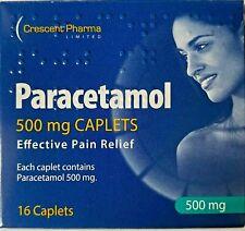 16 Paracetamol Headache Migraine Back Pain Relief Painkillers 500mg Tablets