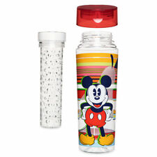 Disney Store Mickey Mouse Infuser Water Bottle 24oz Summer Fun Drink Cup New