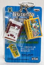 Nintendo Game Console Miniature Figure Key Chain Famicom & Super Mario NES JAPAN