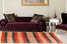 4x6 Ft Home Decor Kilim Area Floor Rug Jute Wool Hand Knotted Geometric