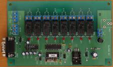Relaisplatine 8-fach seriell, kaskadierbar, neu, für PC, Arduino & Co.