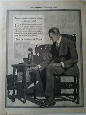 1919 Hart Schaffner & Marx men's clothing suit Candlestick telephone vintage ad