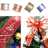 Glitter Ribbons Christmas Party Decor Wire-edged Ribbon Roll For Gift Boxes DIY