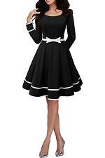 Women's 50's, Rockabilly No Pattern Polyester Knee Length Dresses