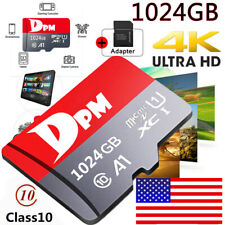 Memory TF Micro SD Card 256 512GB 1TB 100MB/S Class10 4K Fast Flash with Adapter