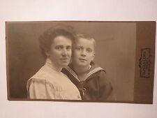 Wesel - Frau Marietta ? und kleiner Junge in Matrosen-Anzug - Portrait / CDV