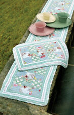 Isabella's TRYON Quilted Floral & Stripe Table Runner