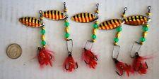 New 5 pieces Custom Fly Spinner Fishing Lure Spinnerbait Treble Bait Jig