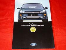 """FORD Focus """"Edition Auto des Jahres 1999"""" Sondermodell Prospekt von 1999"""