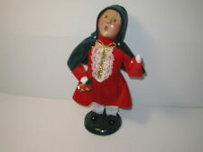Byers Choice 1995 Wonderful Blonde Victorian Girl with Cape Holding Bells