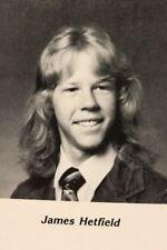 James Hetfield Senior High School Yearbook  Metallica Near Mint Condition