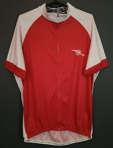 MEN'S FC ARSENAL CYCLING BICYCLE SHIRT JERSEY MAILLOT MAGLIA RED SIZE 2XL XXL