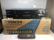 Hitachi VCR Video Cassette Recorder ux6440 VHS VCR. HI FI Ultravision