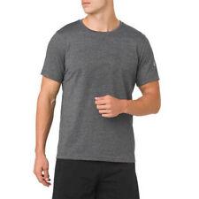Asics Hombre Essential GPX Camiseta T-Shirt Top Gris Deporte Gimnasio