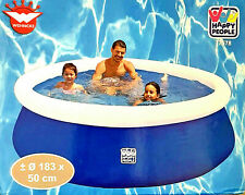 Wehnke Happy People 77578 Quick Up Pool 183x50 cm Planschbecken Schwimmbad NEU