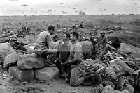 Chaplain holding service close to Japanese Positions Peleliu 8x10 WW2 Photo 546