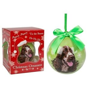 Springer Spaniel Xmas Tree Bauble Decoration Memorial Dog Lovers Gift Boxed