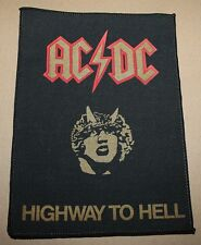 AC/DC, HIGHWAY TO HELL, small Printed Backpatch, VINTAGE 70's/80's, RAR, RARE