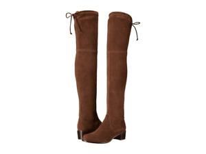 Stuart Weitzman Women Midland Over The Knee Boots Walnut Brown Suede US 7M $798