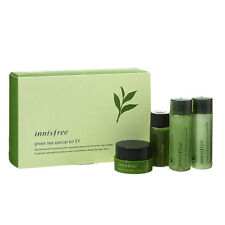 innisfree green tea special kit EX 4 items (Skin + Lotion + Cream + Serum)