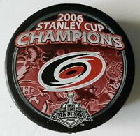 Carolina Hurricanes 2006 NHL Stanley Cup Champions Hockey Puck + FREE Cube