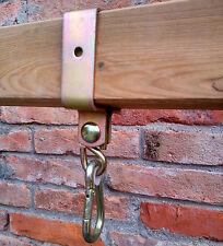 Gancio con moschettone 90x90 collare per palo quadrato zincato per altalene