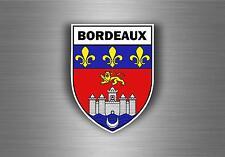 Sticker decal car bike motorcycle souvenir france flag city of bordeaux shield