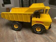 Vintage 1970's TONKA DUMP TRUCK Yellow Pressed Metal Steel 54070 -Ex. Condition!