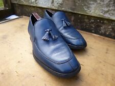 CHURCH VINTAGE TASSEL LOAFERS – BLUE CALF – UK 9.5 –CHILTON– VERY GOOD CONDITION
