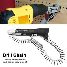 3PCS Automatic Screw Chain Nail Gun Adapter For Electric Drill,Chain Screws Set