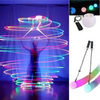LED Multi-Colored Glow POI Thrown Balls Light Up For Belly Dance Hand Props  PK