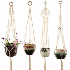 4 pack Boho Plant Hanger Wall Hanging Flower Pot Holder String Art Decor