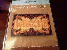 SEMCO - Latch Hook Chart Design -WELCOME RUG  design leaflet.