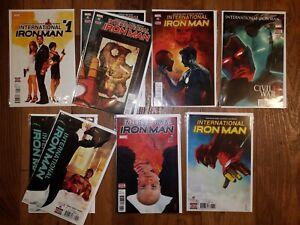 MARVEL COMICS: INTERNATIONAL IRON MAN #1-7  (2016)