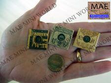 3 Vintage record Miniature.  1/12 Scale. Brunswick, Parlophone, USA
