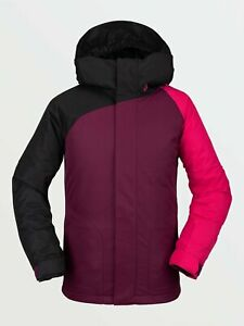 2021 NWT GIRLS VOLCOM WESTERLIES INSULATED JACKET $160 M Vibrant Purple 2 layer