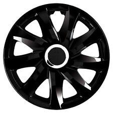 4 Radkappen Radzierblenden 16 Zoll DRF schwarz passend für Mercedes Mazda Ford