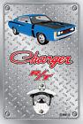 Pop A Top Wall Mount Bottle Opener Metal Sign - Hemi RT Charger Blue