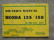 1959-1966 59 60 61 62 63 64 65 66 HONDA CA92 CA 92 CA95 95 OWNER OWNERS MANUAL