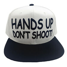 Hands Up Don't Shoot! Flock Snapback Hat Cat