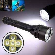 15000Lm 5x XML L2 LED Tauchlampe Taucherlampe Taschenlampe Lampe Fackel bis 100m