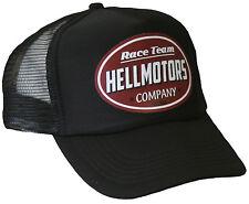 Race Team Hellmotors Trucker Cap Schwarz Oldschool Kappe V8 Hot Rod Basecap