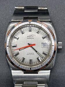 montre ancienne de plongée Maty  vintage 17 Rubis