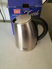 Epica 1.75 Quart Cordless Electric Stainless Steel Kettle New and Improved