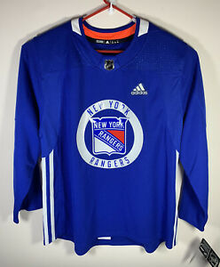 Adidas Men's New York Rangers Authentic Home Practice Jersey Blue 254JA Sz54 NWT