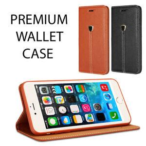 PREMIUM DESIGNER LEATHER WALLET CASE FOR IPHONE 5C BLACK