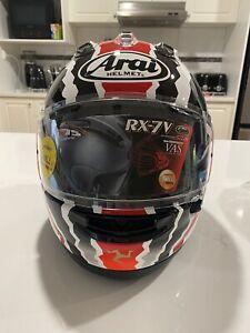 Arai RX-7V Helmet Mick Doohan Isle Of Man Special TT Edition