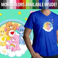 Care Bears Grumpy Cheer Tenderheart Funshine Bear Friend Mens Tee V-Neck T-Shirt