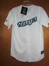 MLB Toronto Blue Jays Youth Button Front Jersey Majestic White #26 Lind S NWT